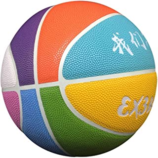 C.N. Compétition d'entraînement Standard Adulte de Basket-Ball hygroscopique à l'intérieur et à l'extérieur de la Rue PU Basket-Ball,Huit Couleurs c,Numéro 7