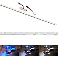 iJDMTOY (1) 12-Inch 18-SMD From Blue To White Color Changing LED Strip Light Compatible With Car Trunk Cargo Area or…