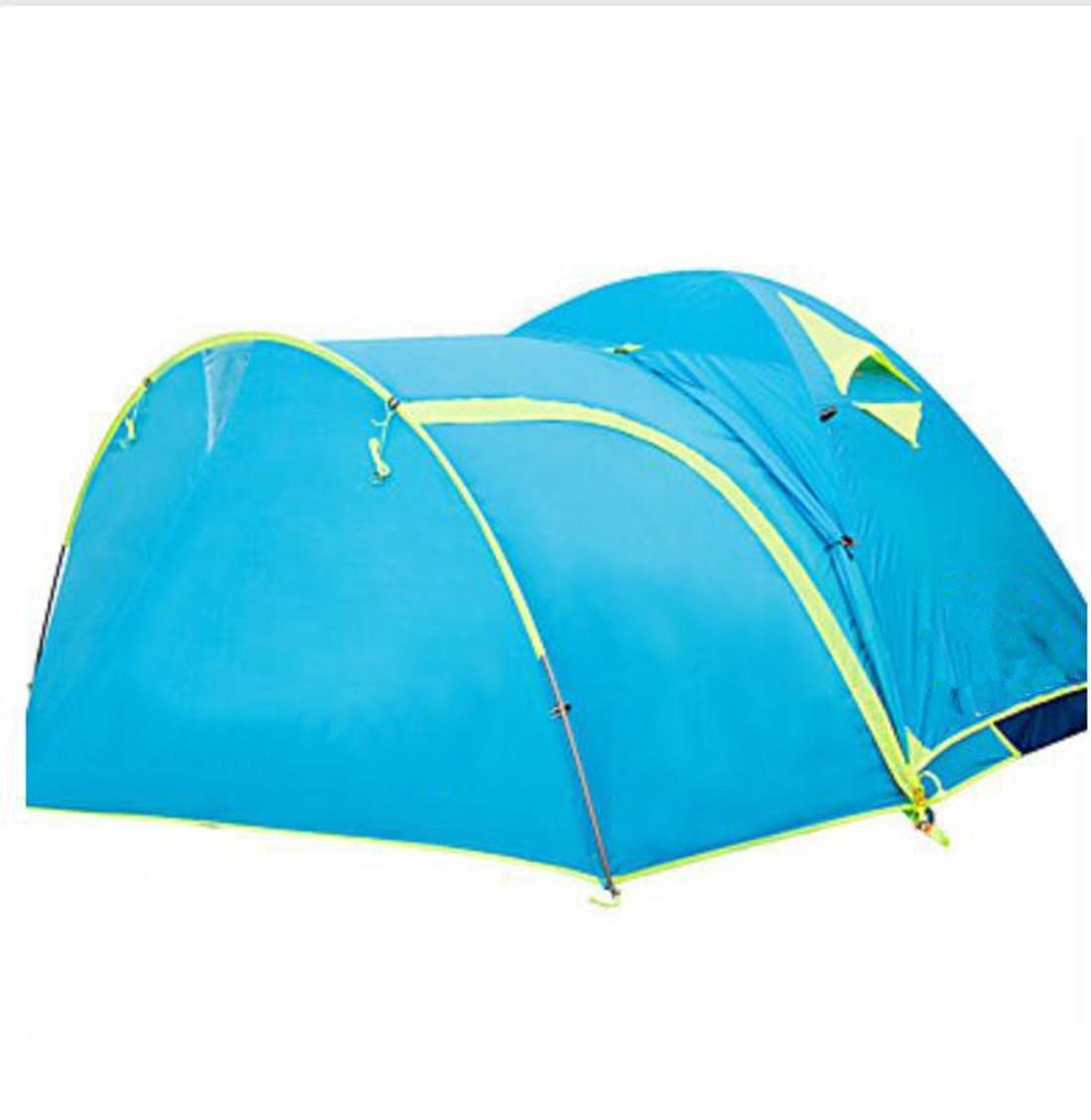 Wasserdicht Atmungsaktivität UV-resistent Winddicht warm halten Extraleicht(UL) Klappbar Transportabel Einzimmer Zelt , light sky Blau
