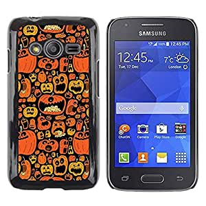 Paccase / SLIM PC / Aliminium Casa Carcasa Funda Case Cover para - Orange Pumpkin Autumn Drawing - Samsung Galaxy Ace 4 G313 SM-G313F