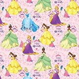 Disney Fabric Princess Listen to Your Heart Cinderella Rapunzel Belle Tiana Fabric by the yard