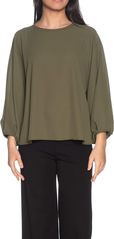 Please Blusa de manga larga para mujer, color verde militar verde militar M: Amazon.es: Ropa y accesorios