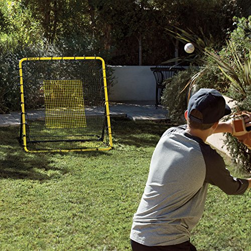 SKLZ Fielding Trainer - Baseball Rebounder Pitchback Returns Ground Balls, Line Drives, and Pop Fly Balls. 4-Feet by 4.5-Feet