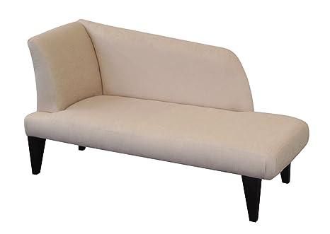 Champán Chenille Suave Chaise Longue Longue sofá Cama de día ...