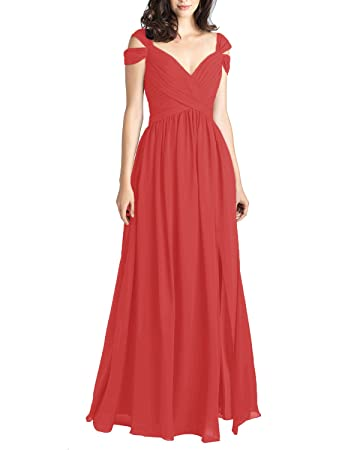 Gardenwed Unique Off Shoulder A Line Prom Dress Long Bridesmaid Dress Red Size 24W