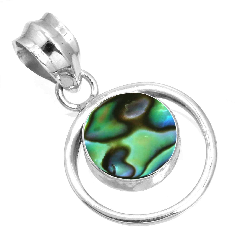 Jeweloporium Solide 925 Sterling Silver Pierre gemme /À la Main Pendentif for Femmes