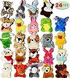 Joyin Toy 24 Pack of Mini Animal Plush Toy Assortment (24 units 3