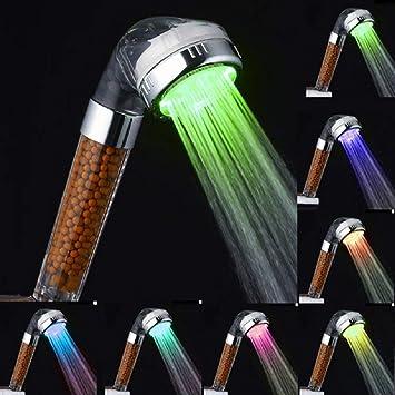 Soffione Doccia Led Multicolore.Pyrus Soffione Doccia Doccia Led Multicolore 7 Colori Quadrato Doccia Testa Per Il Bagno Terme
