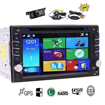 EINCAR Volver cámara inalámbrica estéreo 6.2 Pulgadas GPS ...