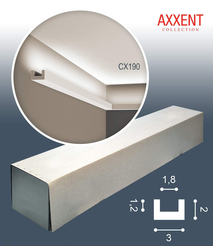 Orac Decor CX190-box AXXENT U-Profile 1 Box 25 Pieces Cornice