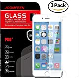 iPhone 6S Screen Protector, JOOMFEEN 3Pack [Anti-Glare & Anti-Fingerprint] 9H HD Clear Tempered Glass Screen Protector Film for Apple iPhone 6/6S (4.7 Inch Only)-[3D Touch Compatible]