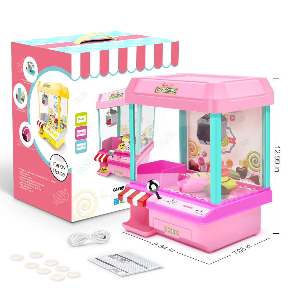 The Toy Grabber Claw Machine for Kids,Indoor Arcade Gams, Ideal for Use with Small Toys / Candy,Features LED Lights and Sound Effects, Mini Candy Claw Toys for 1 2 3 4 5 Year Old Boys Girls Best Gift by Toyk (Image #6)