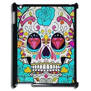 Y-M-D Head Case Designs Popular Artsy Skull Hard Back Case Cover For iPad 2