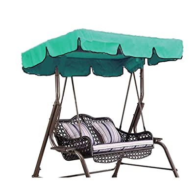 skyfiree Outdoor Swing Canopy Replacement Top Cover 75x52 inches 3 Seater Waterproof 600D Polyester Replacement Canopy UV Block Garden Outdoor Porch Patio Swing (Green) : Garden & Outdoor
