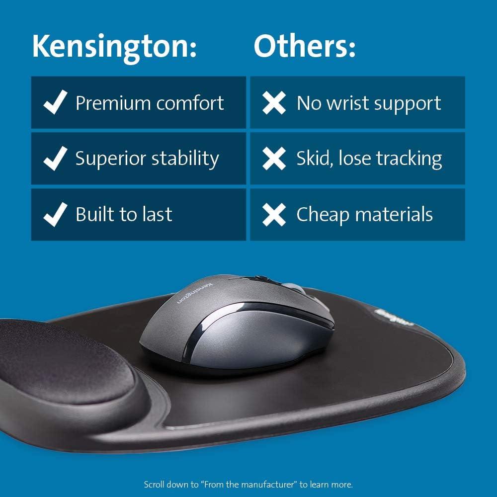 Kensington Comfort Gel Mouse Pad with Wrist Rest Black K62386AM
