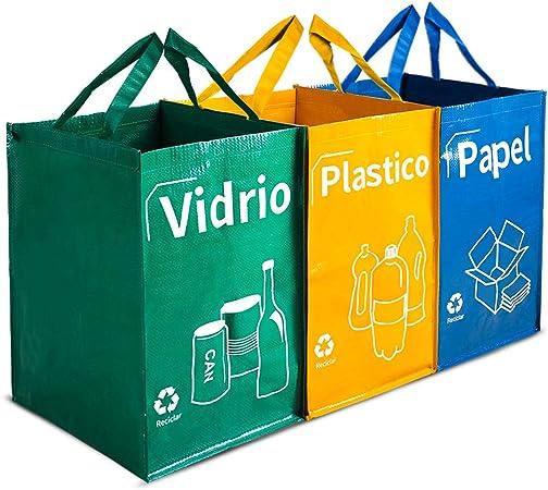 Opret Bolsas Basura Reciclaje 3 Pack Cubo de Reciclaje Separadas ...