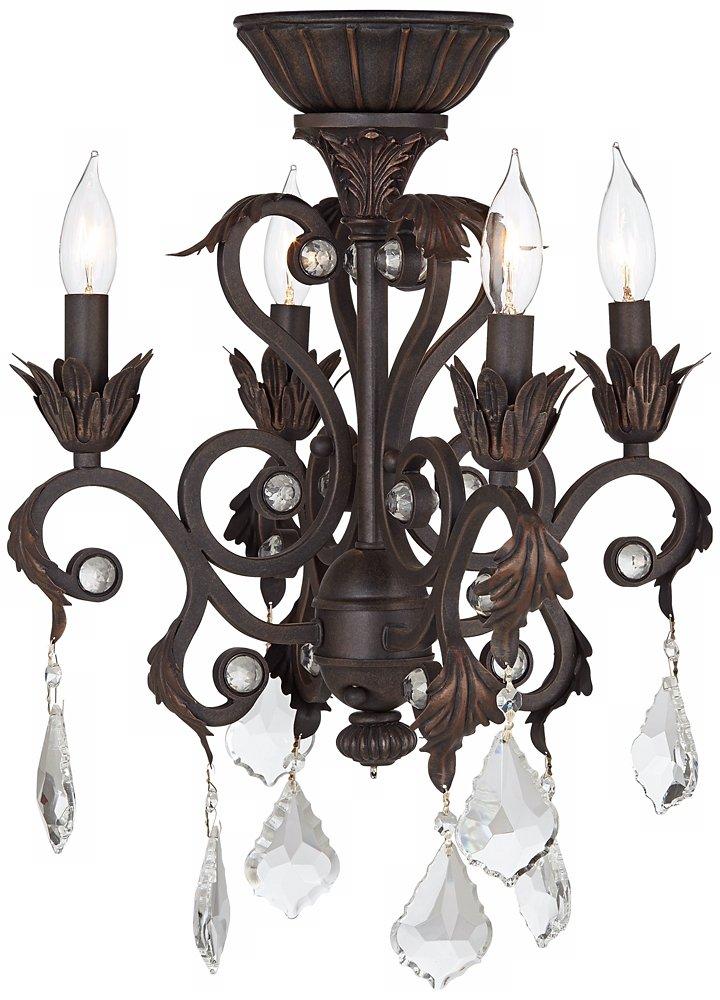 4-Light Oil-Rubbed Bronze Chandelier Ceiling Fan Light Kit ...