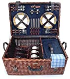 Picnic & Beyond Wicker Picnic Basket for 4 PB1-3380A
