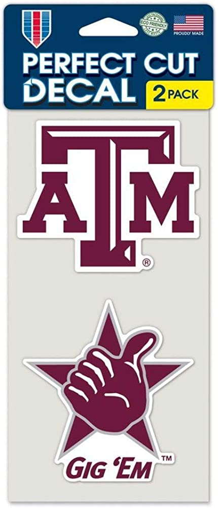 Wincraft Texas A/&M Aggies Set of 2 Die Cut Decals