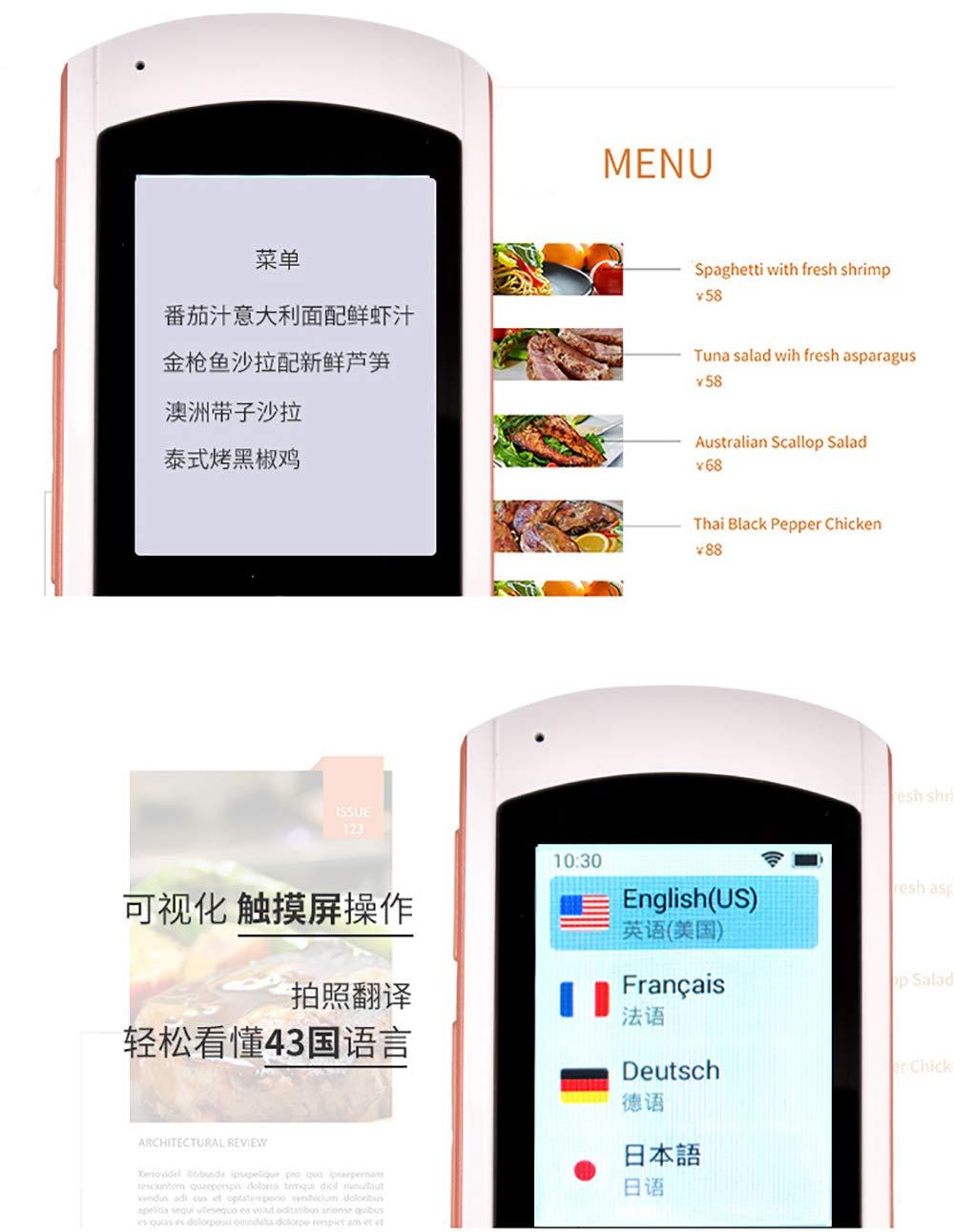 Smart Sprach/übersetzer Device WiFi//5 L/änderOffline 2,0 Touchscreen,77 Sprachen Zwei-Wege Echtzeit Sofortige /Übersetzung Fotografieren /Übersetzungen