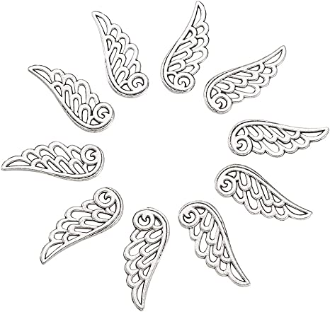 5 x Tibetan Silver ANGEL WITH STARS DISC Double Sided 24mm Charms Pendants Beads