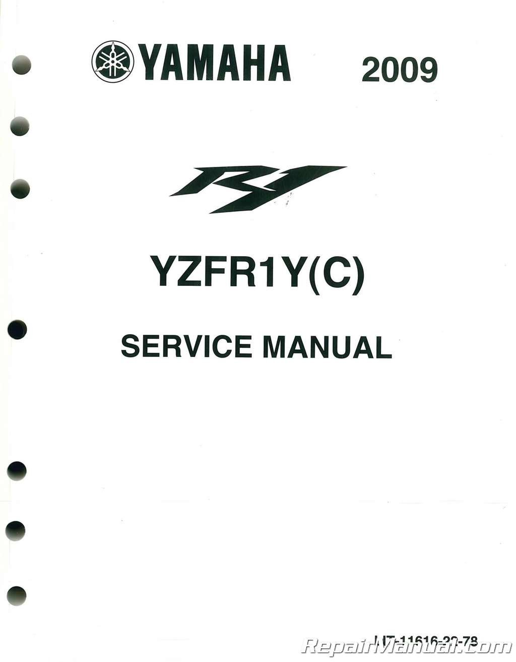 ULIT-11616-22-78 Used 2009-2011 Yamaha YZFR1 Motorcycle Printed Service Manual pdf epub
