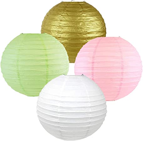 Click for more Chinese//Japanese Paper Lantern Colors /& Sizes! Set of 5 Just Artifacts 10 Black Paper Lanterns