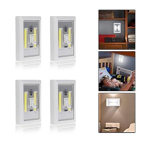Bonanic luz sin cable cob led. Luz de armario alimentado con batería. Luces led de pared.
