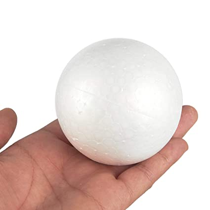 Vardhman Big Thermocol Balls (10cm, White) - Set of 6