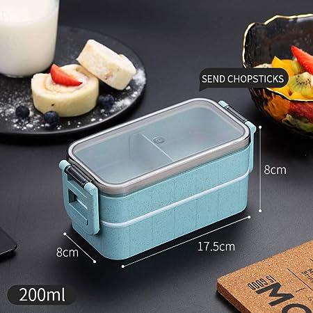 ADDGO Fiambrera Bento Box Lunch Plastic 2 Fiambreras ...