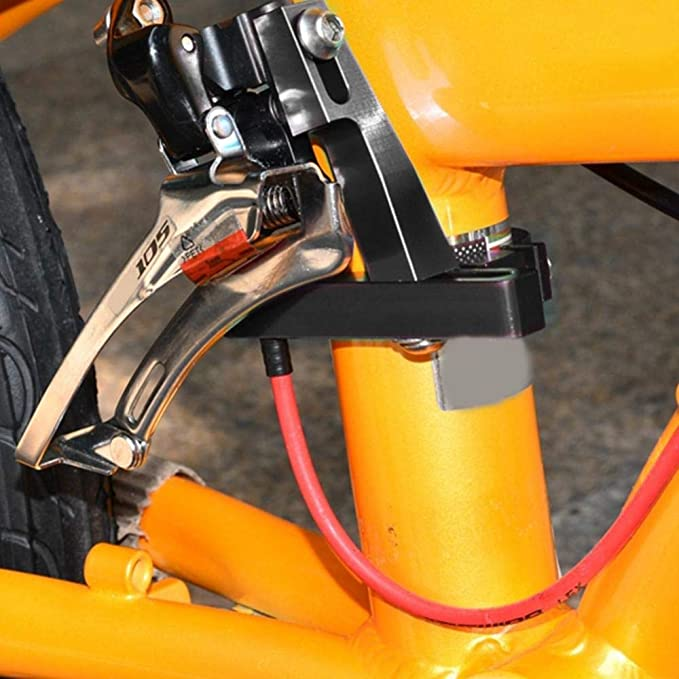 Fealay Front Derailleur Adapter Aluminium Alloy Bicycle Front Derailleur Clamp Adapter Clamp Clip Cycling Accessory