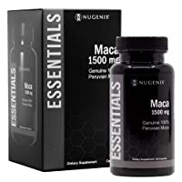Nugenix Essentials Maca Root Powder Capsules - 1500mg Genuine 100% Peruvian Maca Extract - Supports Increased Energy, Performance, and Vitality for Men and Women