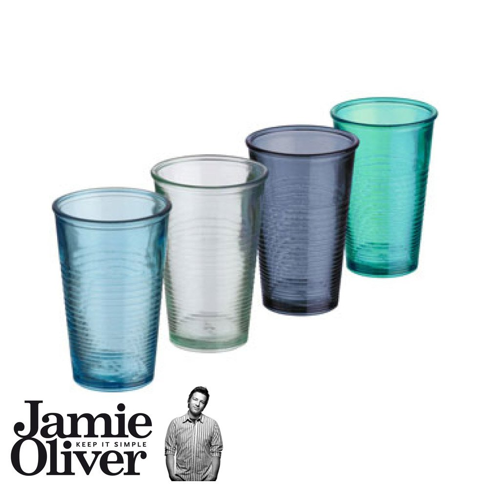 Jamie Oliver-Gläser, aus recyceltem Glas-Set, 4-teilig , 300ml ...