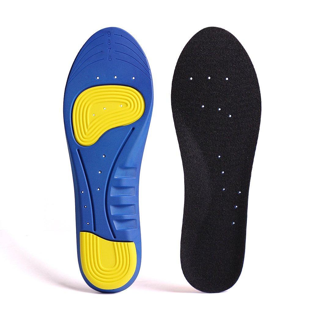 747d6017b9bc GAOAG Shock-absorptation Breathable Insole Orthotics Gel Sports Comfort  Shoes Insole Neutral Arch Replacement Shoe