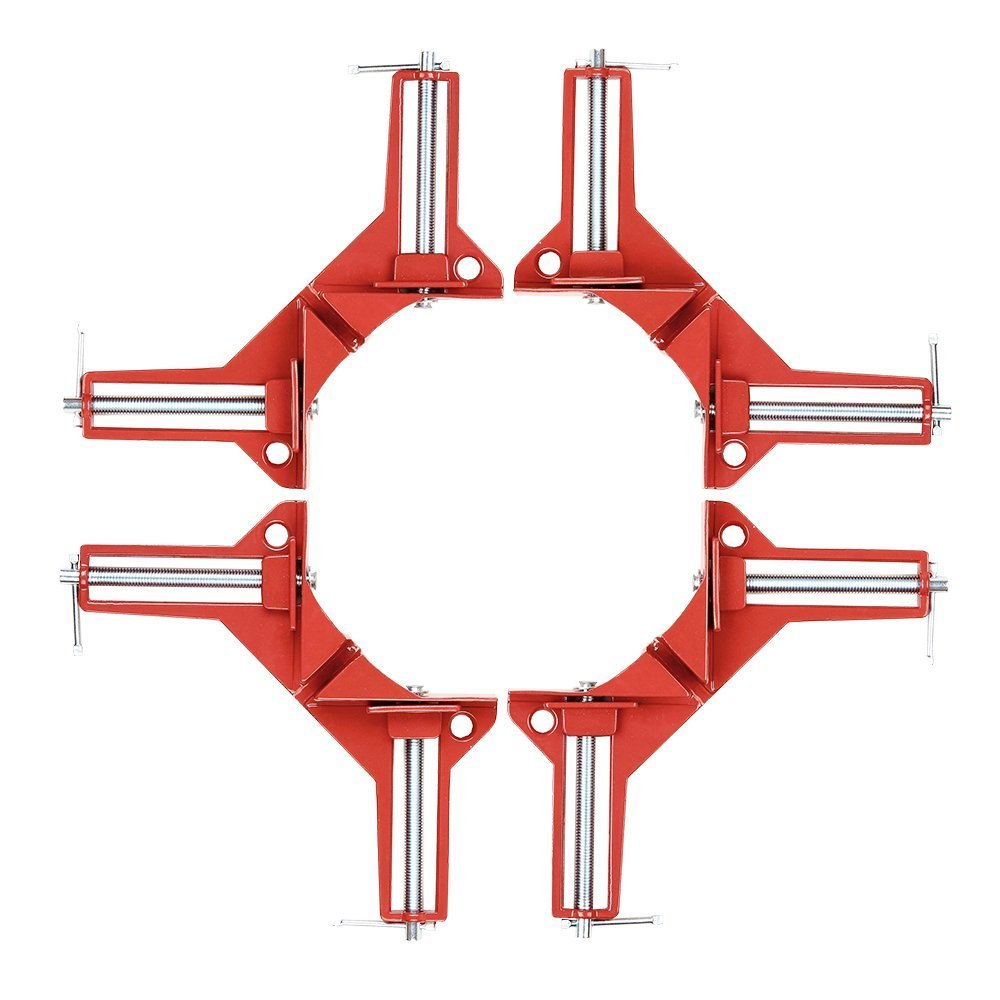 90 Degrees Right Angle Clamp 3in Corner Clamp Picture Holder Woodworking Holder SUCOOL Pack of 4