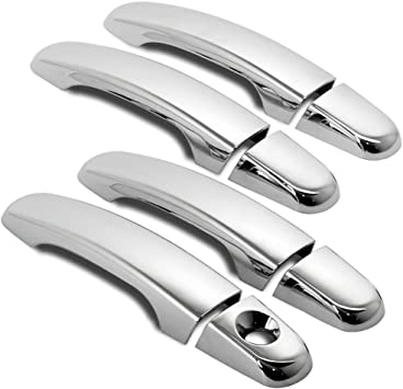 For GMC ACADIA 2010-2015 Chrome Mirror And 4 Doors Handles Covers