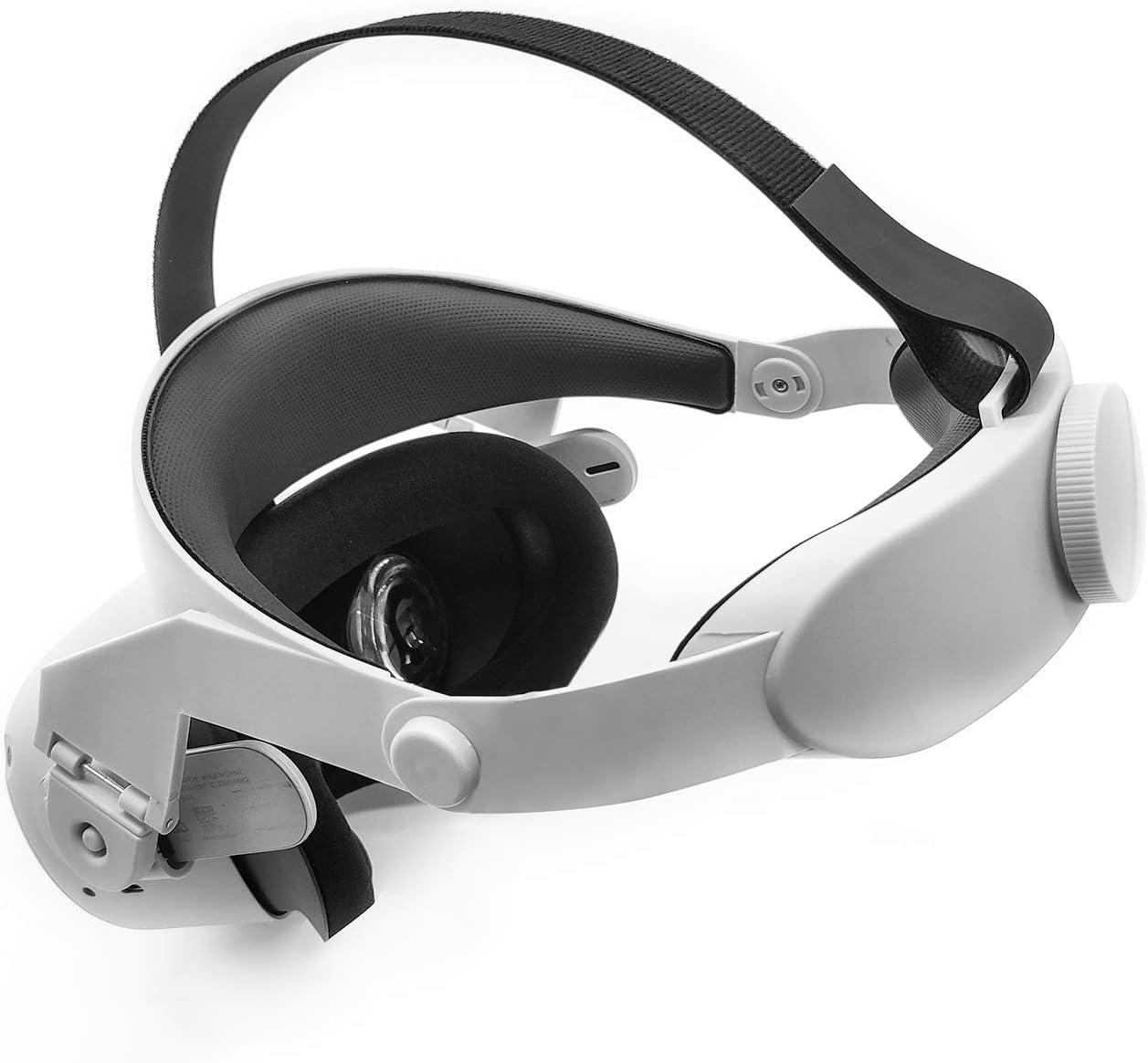 Correa de halo ajustable para Oculus Quest 2 VR, aumenta la fuerza de apoyo y mejora la comodidad. Accesorios de realidad virtual (blanco)