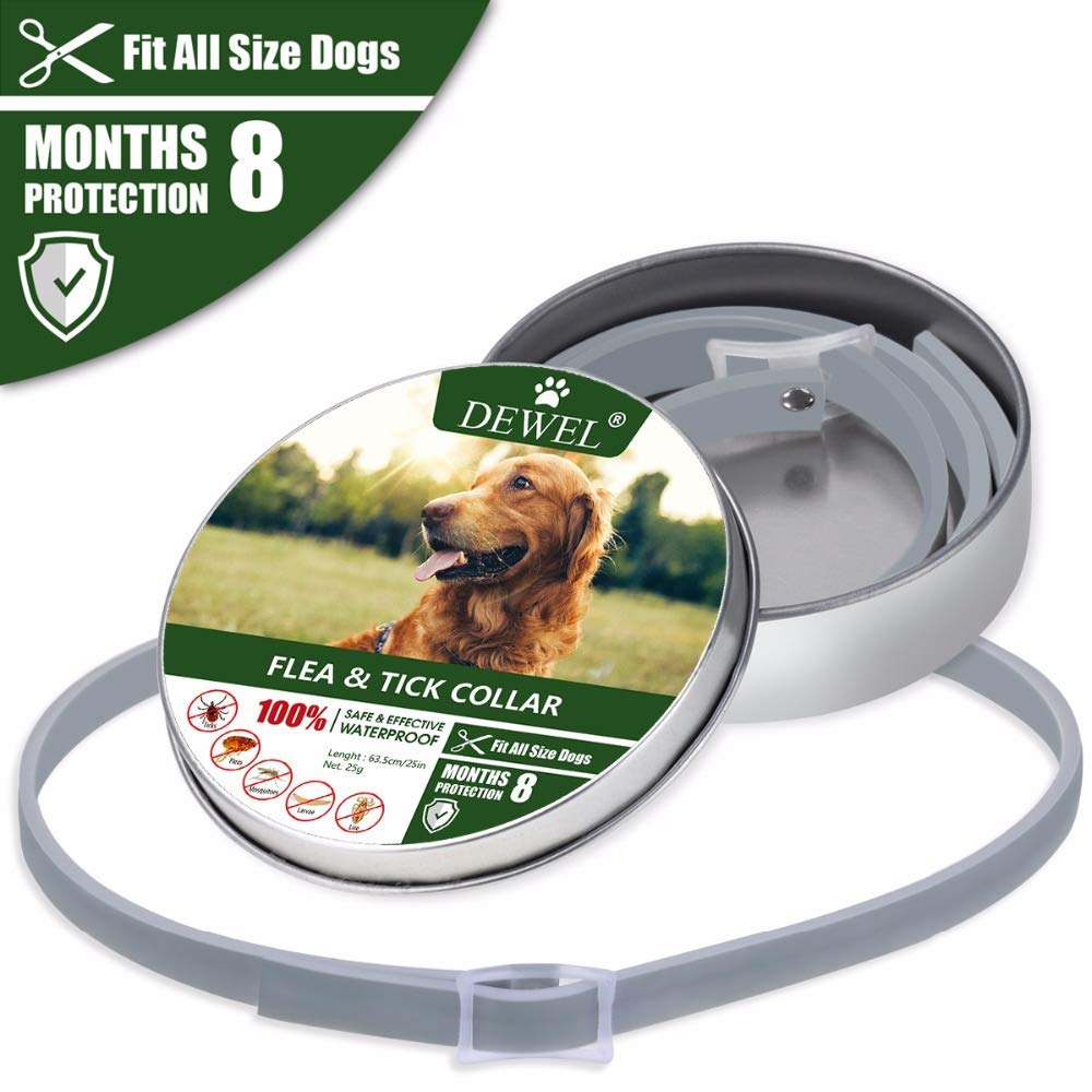 ZJH Adjustable Flea and Tick Collar for Dogs and Cats - Waterproof and Natural Flea Collar Repels Fleas Ticks Mosquitos One Size Fits All Dogs and Cats by ZJH (Image #1)