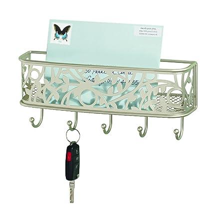 Merveilleux InterDesign Vine Mail Holder And Key Rack U2013 Wall Mounted Letter Organizer  And 5 Key Hooks