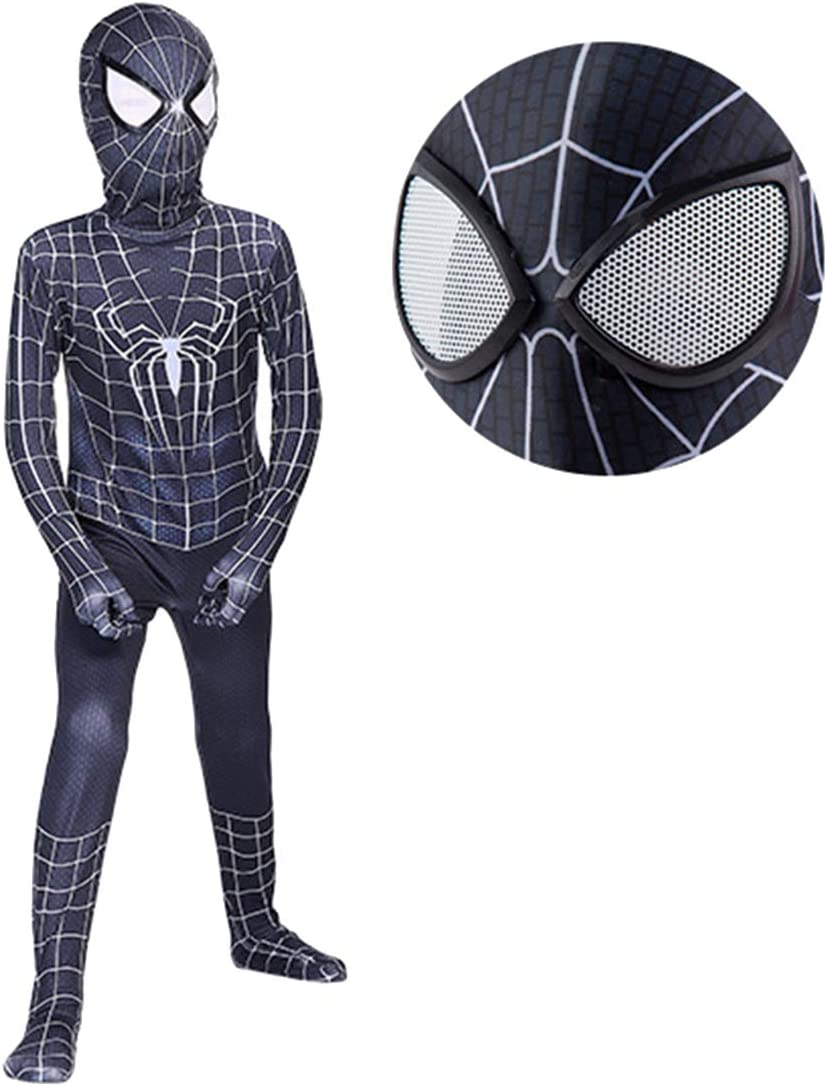 Kids Venom Spider-Man Superhero Cosplay Costume Jumpsuit Fancy Dress