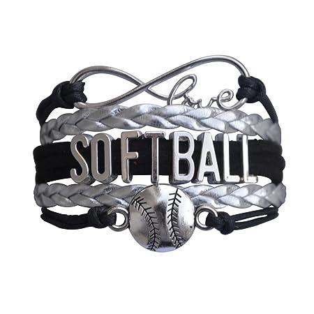 Softball Infinity Charm Bracelet- Softball Jewelry - Perfect Softball Player