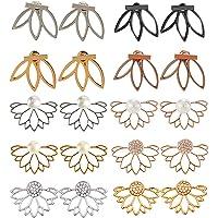 10 Pairs Lotus Flower Earrings Jewelry Simple Chic Earrings Best Gift for Women Girls