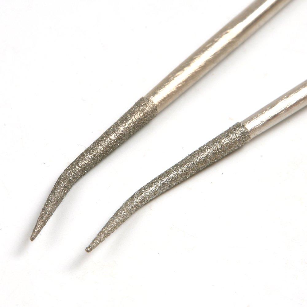 Unique 10Pcs/Set 160mm Diamond Mini Needle Files Kit Set Red Handy Tools by Isguin (Image #4)
