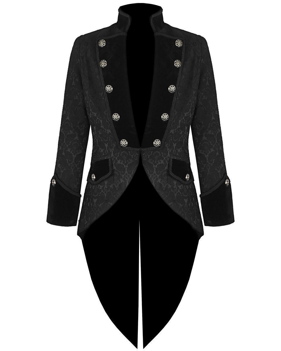 Mens Steampunk Tailcoat Jacket Velvet Gothic VTG Victorian/Tail Coat (Large, Brocade) 3