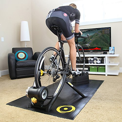 Indoor Cycling Trainer Sports Fitness Exercise Strength Training Equipment Biking Training Machine Encased fluid resistance unit provides a quiet and more consistent ride, Preassembled fold-flat frame
