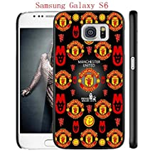 Samsung Galaxy S6 Case, Manchester United FC Soccer Team Logo 41 Drop Protection Never Fade Anti Slip Scratchproof Black Hard Plastic Case