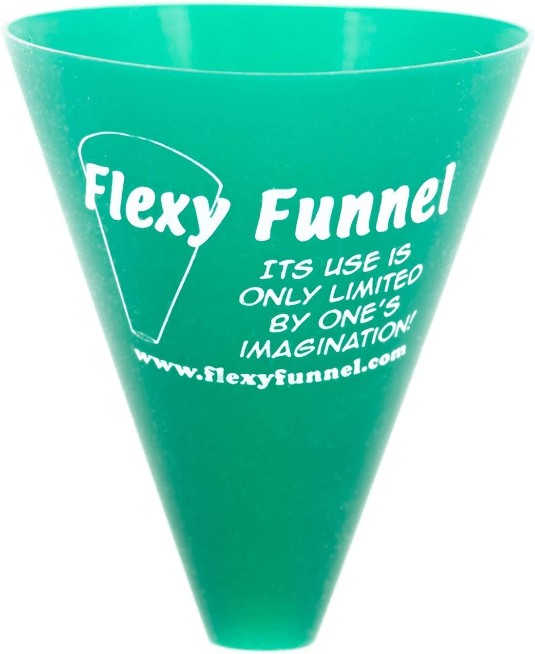 Flexy Funnel Original Silicone Funnel Tool for Transferring of Liquid, Fluid, Dry Ingredients & Powder Great for Kitchen, Automotive, Lab Use, Arts & Crafts, 2 Pack (Green)
