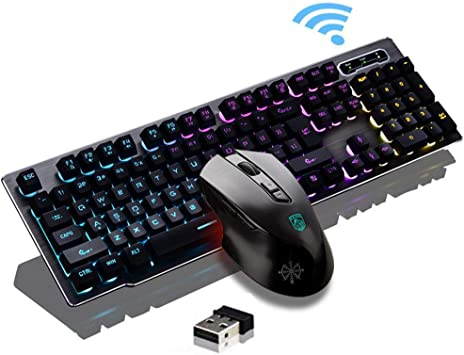 Slim Wireless 2.4G Backlight 104Keys Keyboard And Mouse Combo Set for PC Laptop