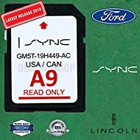 Ford Lincoln A9 SYNC SD Card Navigation Latest 2018/2019 US/Canada Map Update A8