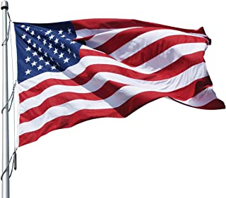 product image for Eder Flag – Poly-Max Outdoor U.S. Flag - Proudly Made in The USA - Extremely Durable - Reinforced Fly Stitching - Heavy-Duty Duck Cloth Headers - Quality Craftsmanship (10x19 Foot)